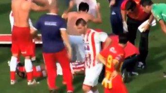 Смерть аргентинского футболиста на поле