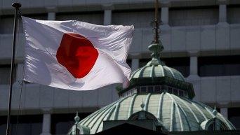 Флаг Японии в Токио, 22 мая 2015 г.