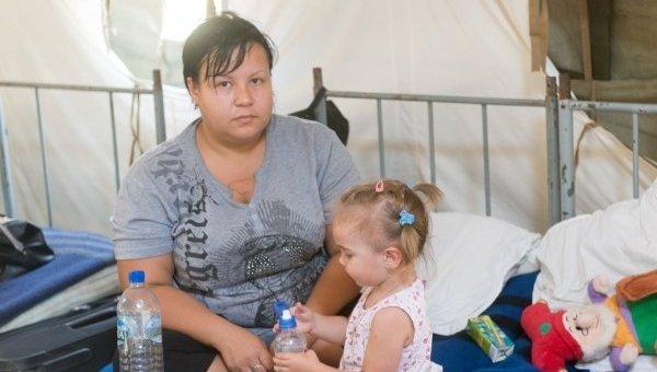 Лагерь для переселенцев из зоны АТО. Архивное фото
