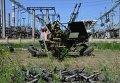Украинский военный на Луганской ТЭС