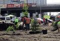 Обустройство сквера на месте застройки у метро Осокорки