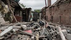 Последствия обстрела Горловки в Донецкой области