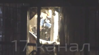 Взрыв в магазине Roshen в Киеве. Видео