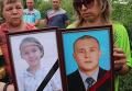 Прощание с погибшими в Горловке отцом и 11-летней дочерью. Видео