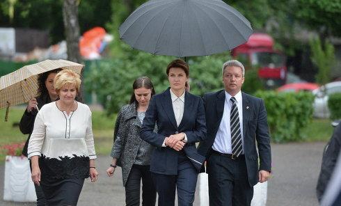 Марина Порошенко на последнем звонке в Киеве