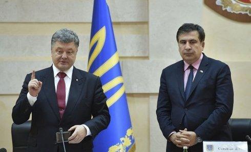 Петр Порошенко и Михаил Саакашвили в Одессе
