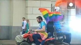 Драка во время гей-парада в Москве