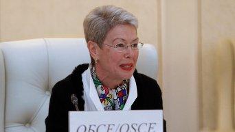 Специальный представитель действующего председателя ОБСЕ Хайди Тальявини. Архивное фото