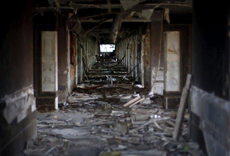 Демонтаж штаб-квартиры бывшего президента Мубарака в Каире