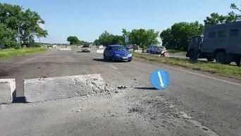 Обстрел блокпоста возле населенного пункта Березовое