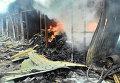 Пожар на рынке в Донецке. Архивное фото