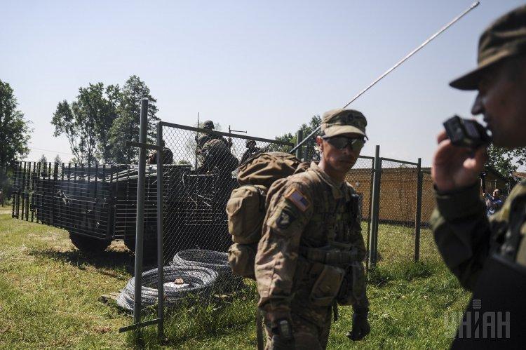 Военнослужащие Украины на Яворовском полигоне