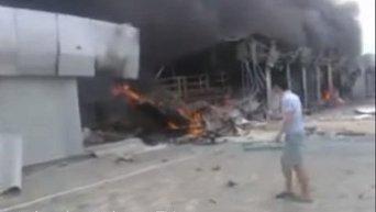 Рынок Сокол в Донецке после обстрела. Видео