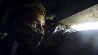Украинские военные в Песках