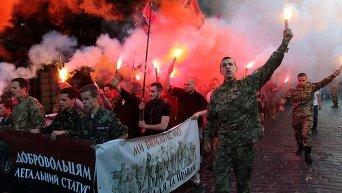 Акция Правого сектора во Львове