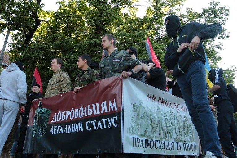 Правосеки митингуют во Львове
