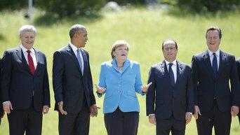 Харпер, Обама, Меркель, Олланд и Кэмерон