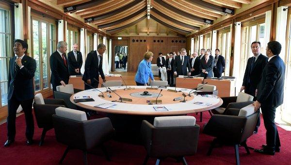Первая рабочая сессия саммита G7