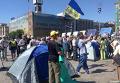 Палатки на Майдане Незалежности