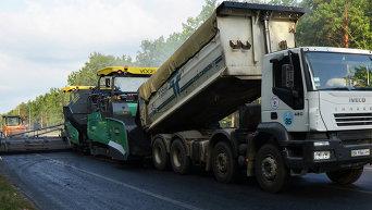 Строительство дорог в Украине