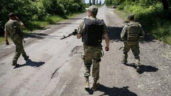 Бойцы ВСУ патрулируют Новотошковское