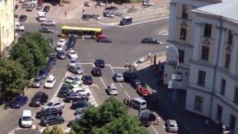 Перестрелка в центре Киева. Видео