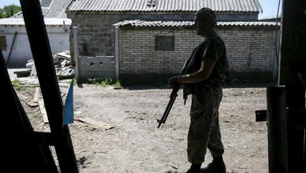 Позиции украинских военных близ Марьинки
