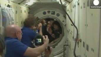Интернациональный экипаж МКС возвращается на Землю. Видео
