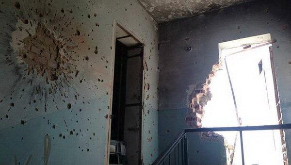 Последствия обстрелов в Марьинке