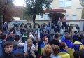 Активисты забросали яйцами и зеленкой здание консульства РФ в Харькове