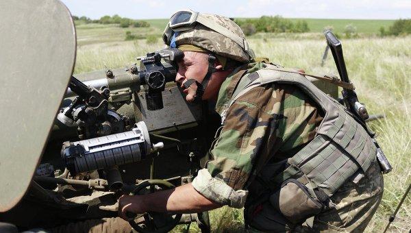 Артиллеристы в зоне АТО