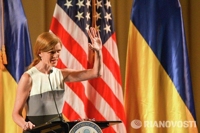 Посол США при ООН Саманта Пауэр выступила с речью в Киеве
