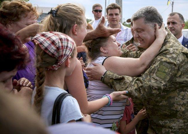 Рабочая поездка Порошенко в Донецкую область