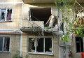 Последствия обстрела в Горловке