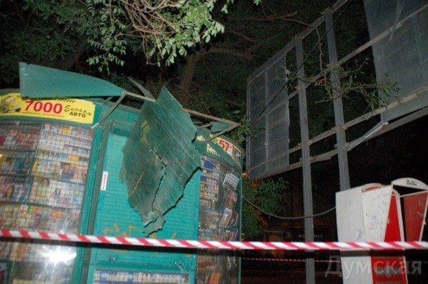 Последствия ночных взрывов в Одессе