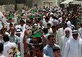 Бахрейнские шииты на марше в поддержку лидера оппозиции Шейха Али Салмана