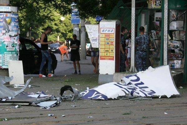 Последствия взрывов в Одессе