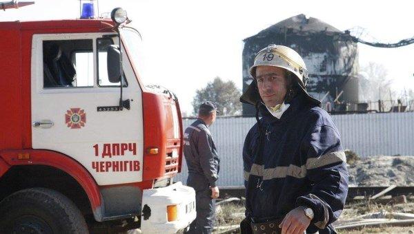 Пожар на нефтебазе под Киевом ликвидирован