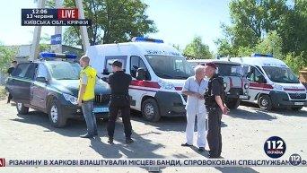 На нефтебазе под Киевом возобновился пожар