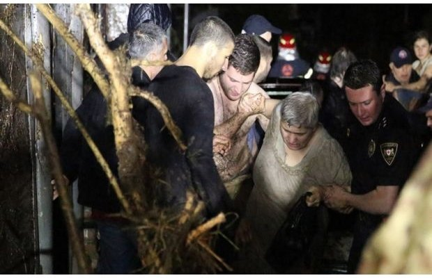 Разрушительное наводнение в Тбилиси