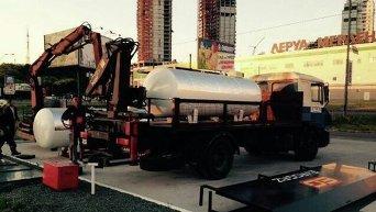 Демонтаж газовых заправок в Голосеевском районе Киева