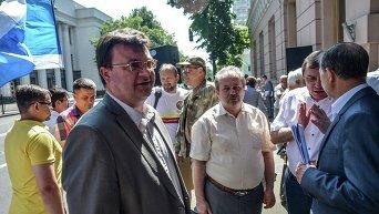 Акция профсоюзов в центре Киева