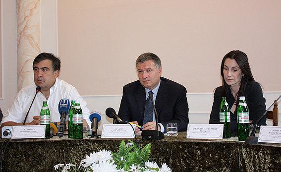 Михаил Саакашвили, Арсен Аваков и Эка Згуладзе