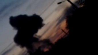 Взрыв в Донецке. Видео