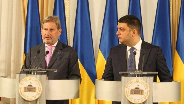 Йоханес Хан и Владимир Гройсман. Архивное фото