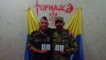 Бойцы спецроты Торнадо (ранее батальон Шахтерск)