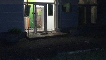 Взрыв возле Сбербанка России в Киеве