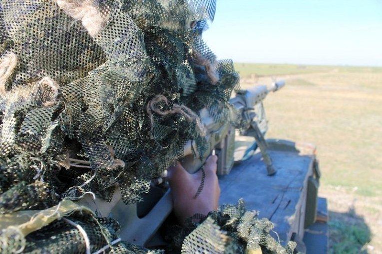 Учения снайперов-десантников в Николаевской области