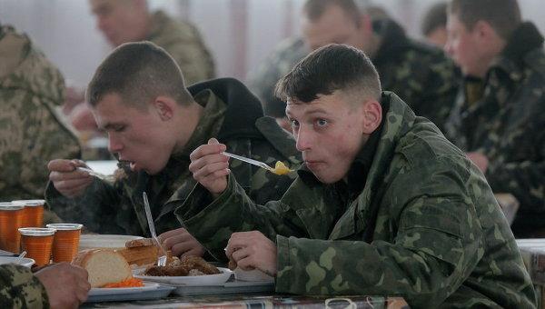 Мобилизованные украинские солдаты