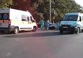 В Кривом Роге подростки на ВАЗе въехали в милицейский патруль. Видео